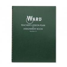 Six-period lesson plan book covers a school year up to 38 weeks. Each week is divided into a five-day week with six periods per day. Letter-size planning pages are printed in green ink on quality White paper and bound in a durable, deep green cover with semi-concealed wire binding. Book contains a two-year calendar, yearly schedule of school events, seating charts, and memorandum sheets Condition: New Product Features: Made in USA