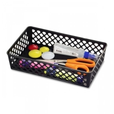 Large supply baskets are a great way to store loose supplies, crafts and more. Ideal for school, office and home use. Stack easily for storage when not in use. Baskets are made of plastic with post-consumer recycled mater Condition: New Material: Plastic Organizer Type: Desk Organizer Color: Black