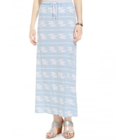 Tommy Hilfiger Printed Drawstring Maxi Skirt Women Women's Clothing - Skirts