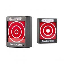 The Laserlyte Reaction Tyme Laser Target comes with dual modes for reaction and training. This new laser training system comes with two targets for more realistic training scenarios. Each target works independently of each other providing the user a variety of scenarios from near-to-far or left-to-right shooting. The interactive system works in two modes: reaction and training. The reaction mode features random LED signals in intervals of three to seven seconds that can be shot with any of the LaserLyte Trainers. When a hit is made the target celebrates with two beeps and a LED flash. The training mode allows the user to practice trigger control and accuracy with an always-on and ready-to-be-shot mode. When a hit is made, the target sounds two beeps and the LED flash. The LaserLyte Reaction Tyme Target allow for new and experienced shooters to gain increased levels of confidence and skills in the comfort of their own home while saving money on ammunition. Any of the LaserLyte Trainers work with the TLB-RT including the LT-PRO, LT-1 and the LaserLyte Trainer Cartridges in .223, .380, 9mm, .40 S & W and .45 ACP. Works with any of the LaserLyte Trainers: LT-PRO, LT-223, LT-1, LT-380, LT-9, LT-40, LT-45 Two Targets with 2.5 inch diameter shooting ring Batteries: Three (3) AAA Brand: Laserlyte Model: TLB-RT Materials: Plastic Color: Black Dimensions: 1.3 inches x 3.0 inches x 3.74 inches Weight: 0.27 pounds Before purchasing this product, please familiarize yourself with the appropriate state and local regulations by contacting your local police dept, legal counsel and/or attorney general's office. You, as the buyer, not Overstock.com, are responsible to understand your local, state, and federal laws before placing an order.