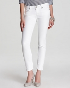 Paige Denim Jeans - Skyline Ankle Peg in Optic White-Contemporary