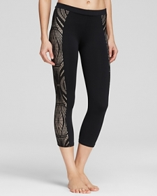 So Low Leggings - Lace Side Panel Crop-Contemporary