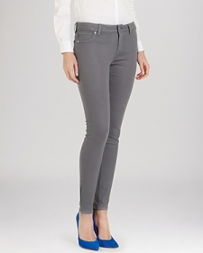Ted Baker Anna Waxed Skinny Jeans in Mid Grey-Contemporary