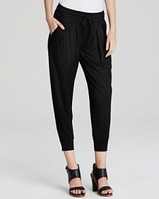 Three Dots Pleated Slouchy Pants-Women