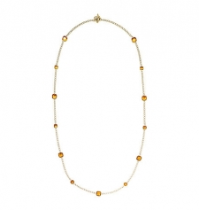 Subtle citrine stones accent this polished piece featuring a seamless toggle closure. As elegant as it is effortless this necklace looks just as opulent worn solo as it does layered with other delicate designs. Size: ONE SIZE. Color: Gold.